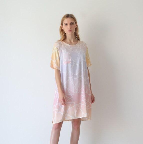 c89f00399543 Tunic dress satin dress tshirt dress. loose fit dress