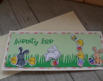 Peekaboo Bunnies Framed Photo Art Greeting Card Blank Inside Any Occasion