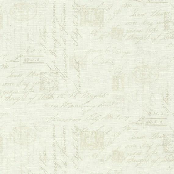 Bone Script Fabric Yardage Wilderness Timeless