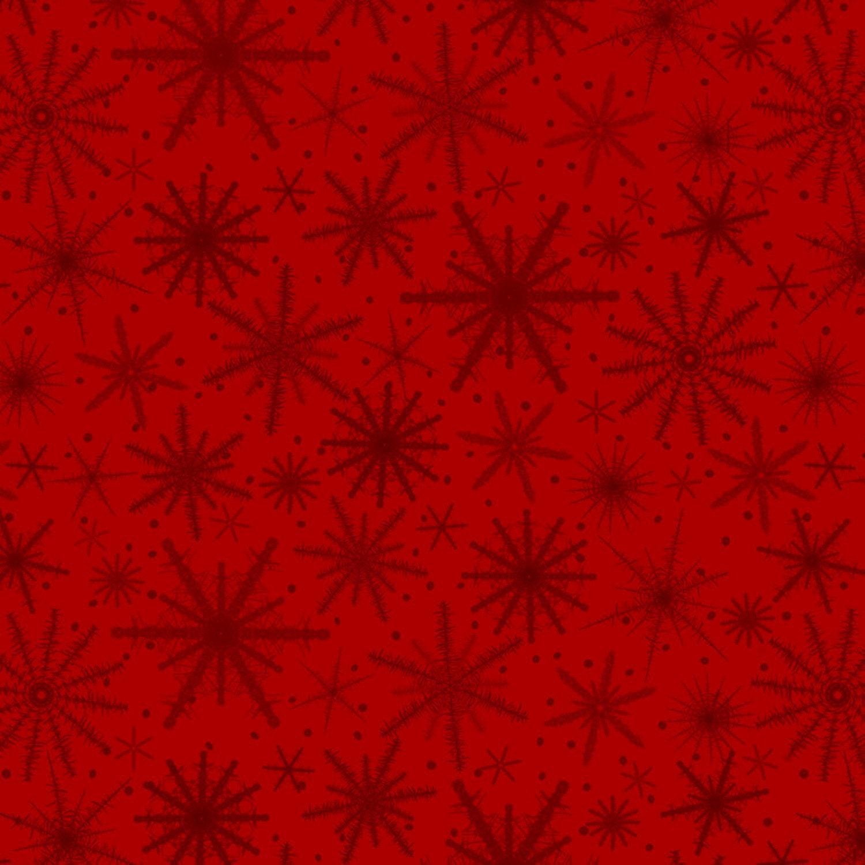 Rote Schneeflocke Stoff-Urlaub wünschen-Henry | Etsy