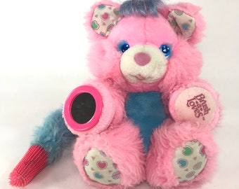 Vintage Amtoy Brush - A - Loves Pink Plush Stuffed Animals