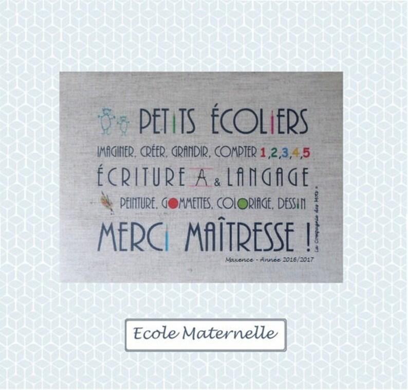 Coloriage Theme Ecole.Linen Thank You Teacher Gift For A Teacher Etsy