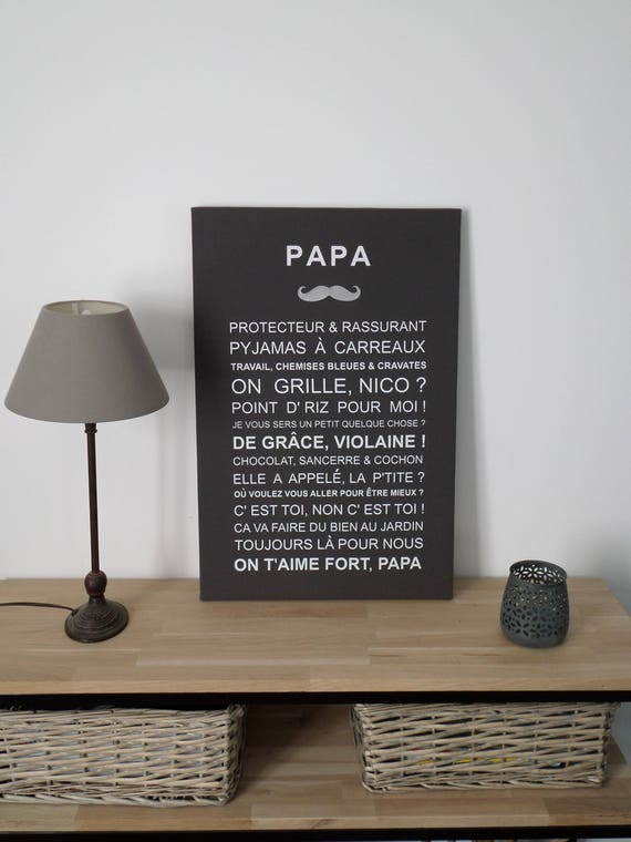 Canvas Dad Personalized 40 X 60 Cm