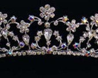 Princess Silver and Rhinestone Bridal Tiara Wedding Quinceañera New Vintage