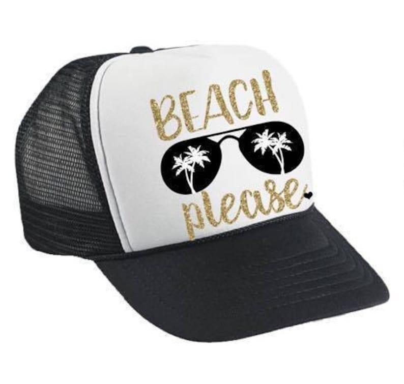 64c72563c Beach Please Trucker Hat