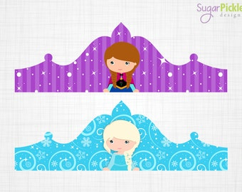 Frozen Crown Printable Birthday Party Decorations