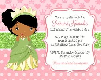 Princess Tiana Invitation And The Frog Party Birthday PRINTABLE