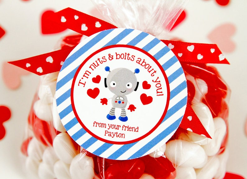 graphic about Valentine Stickers Printable called Custom-made Robotic Valentines Working day Editable Tags, Valentines Tag Stickers printable, Clroom Valentine tag, Preschool Small children Valentines
