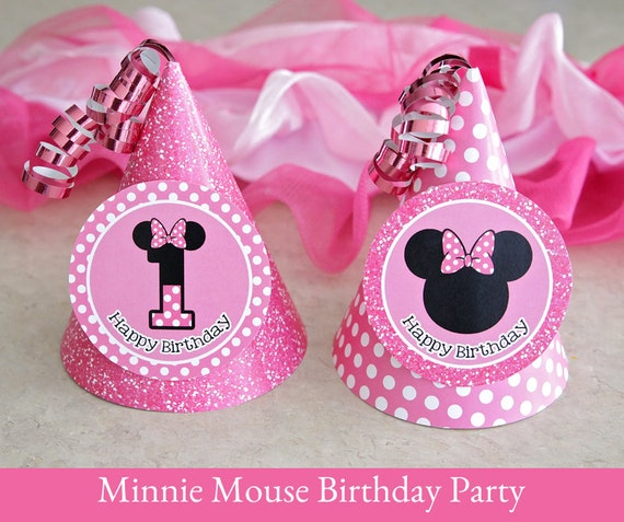 Minnie Mouse Birthday Hat Printable Party