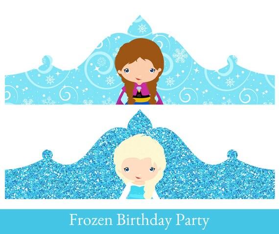 Frozen Crown Princess Elsa Birthday Printable