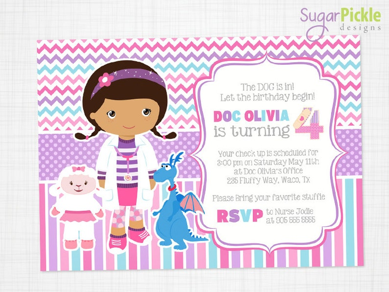 Doc McStuffins Invitation Party