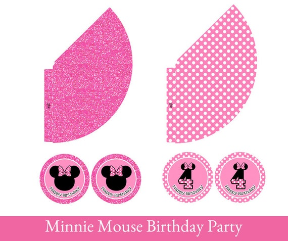 Minnie Mouse Birthday Minnie Mouse Hat Printable Party Hat Etsy