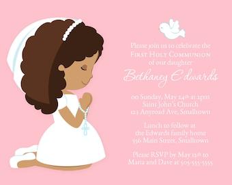 First Communion Invitation, Communion Invitations, Girl Invitation, Communion Party Invite, Holy Communion, PRINTABLE