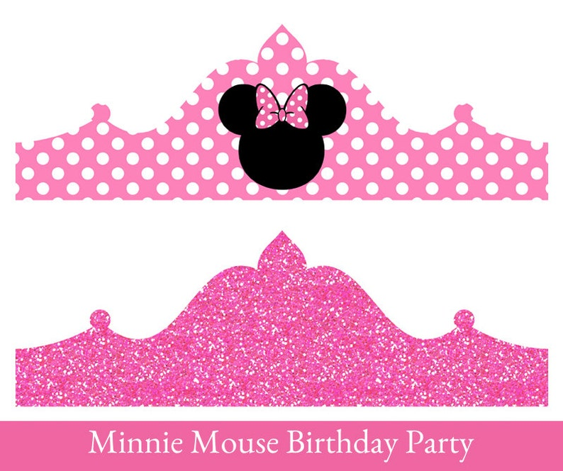 photograph relating to Birthday Crown Printable identify Minnie Mouse birthday Crown, Printable Social gathering Crown, Minnie Mouse Crown, celebration hat, Minnie Mouse Birthday