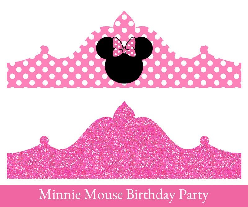 Minnie Mouse Birthday Crown Printable Party