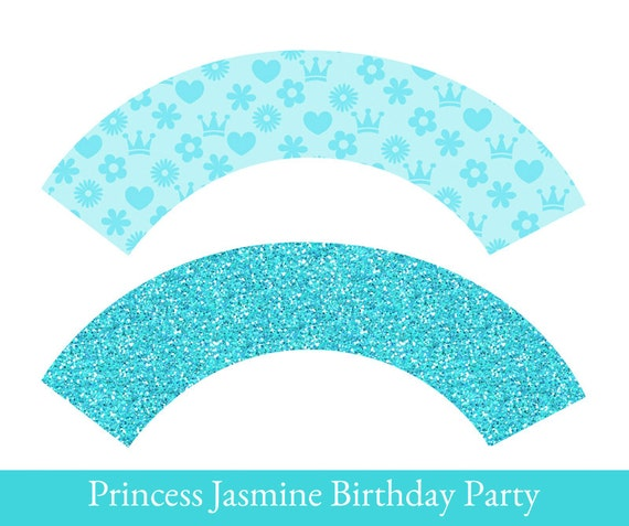 image relating to Printable Cupcake Wrappers titled Jasmine Cupcake wrappers, cupcake wrapper printable, cupcake label printable, Jasmine Occasion Printable, Princess Jasmine Decorations