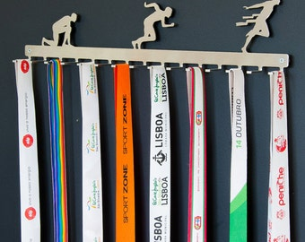 Running hook medal display