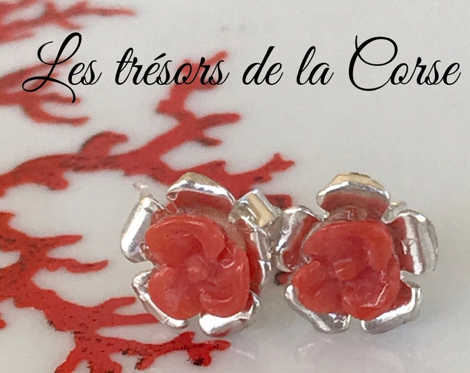 32f9b93e4 Pink earrings in natural red coral Mediterranean 1st choice, love gift