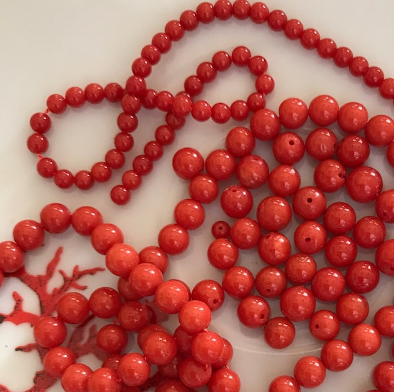 perles corail naturel rouge 10PC //4