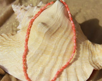genuine pink coral necklace