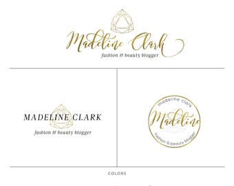 Geometric premade branding package, Romantic jewelry branding images, perfect for small business, blogger branding image