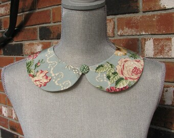 Detachable Peter Pan Collar - Removable collar - Vintage fabric