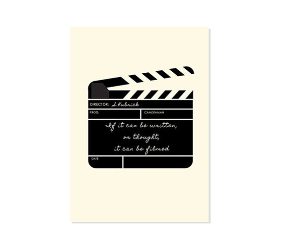 Stanley kubrick film poster clapperboard famous director etsy stanley kubrick film poster clapperboard famous director film quote movie quotes filming typography inspirational quote cinema reheart Choice Image