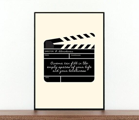 Pedro Almodovar Filmplakat Filmklappe Film Zitat | Etsy
