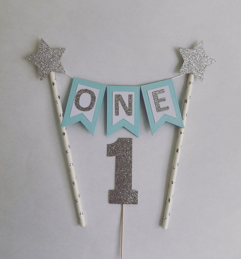 First Birthday Cake Topper1st Bunting Boys