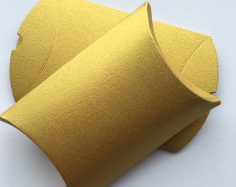 Gold favor pillow boxes, indian gold favor boxes, candy box, decadent wedding gold wedding