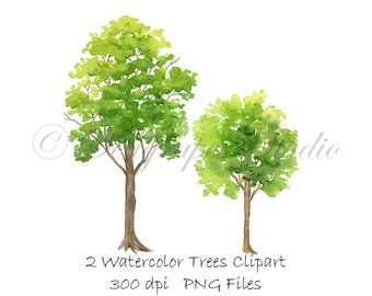 4a00010f1 Watercolor Trees Clipart