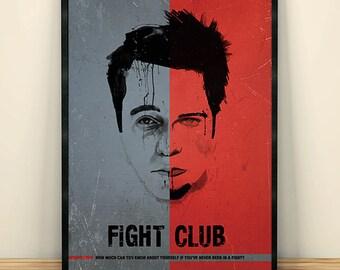 Fight Club  David Fincher Minimalist Movie Poster, Movie Art, Vintage Movie poster