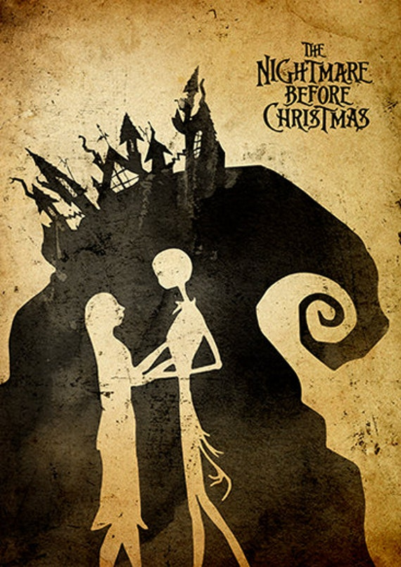 Tim Burton Nightmare Before Christmas Artwork.Tim Burton Nightmare Before Christmas Minimalist Poster