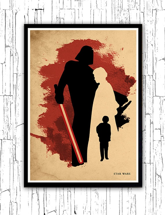Poster A3 Star Wars Leia Skywalker Luke Skywalker Pelicula Film Cartel 02