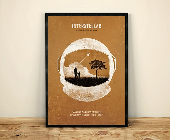 Interstellar Christopher Nolan Minimalist Movie Poster Movie Etsy