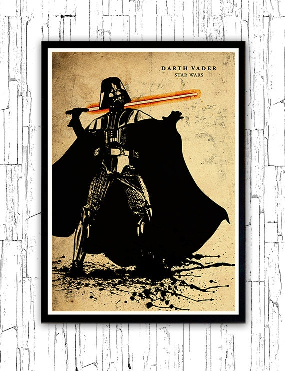 Poster A3 Star Wars Leia Skywalker Luke Skywalker Pelicula Film Cartel 02