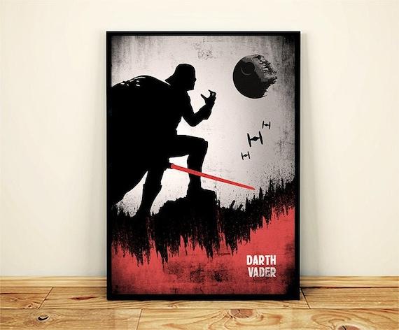 Darth Vader poster  Darth Vader minimalist  Star Wars poster printable  Star Wars poster minimalist  Star Wars canvas prints