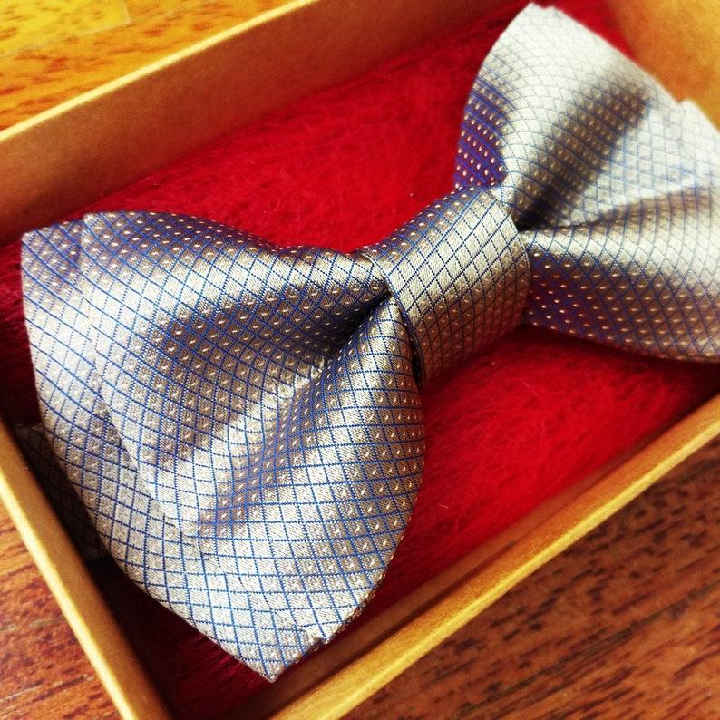 4066d320ccac Bow tie beige / mens bowtie beige / men's satin bow tie /   Etsy