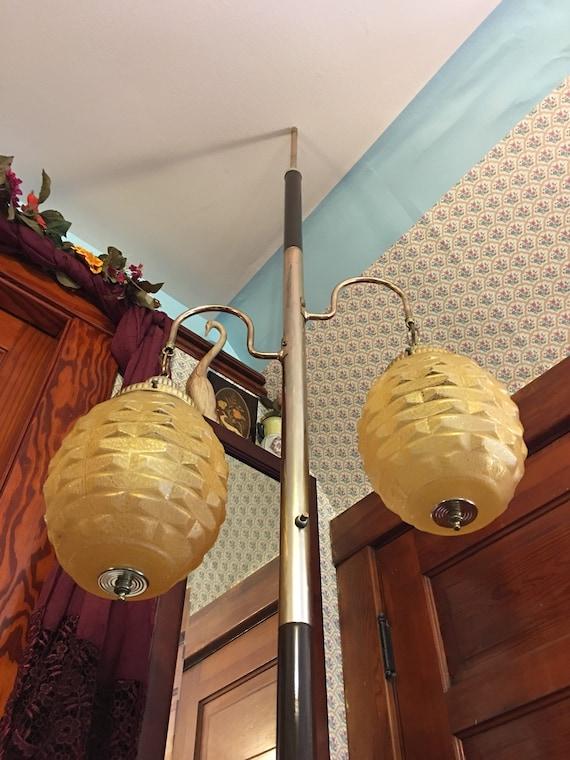 Vintage Atomic Tension Pole Lamp Metal Pole Light Floor To
