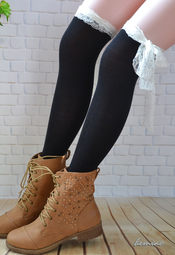 wide varieties top brands recognized brands Womens lace boot socks,Women knee Socks, Thigh high socks,Knee high  socks,Black & white lace top- socks ,