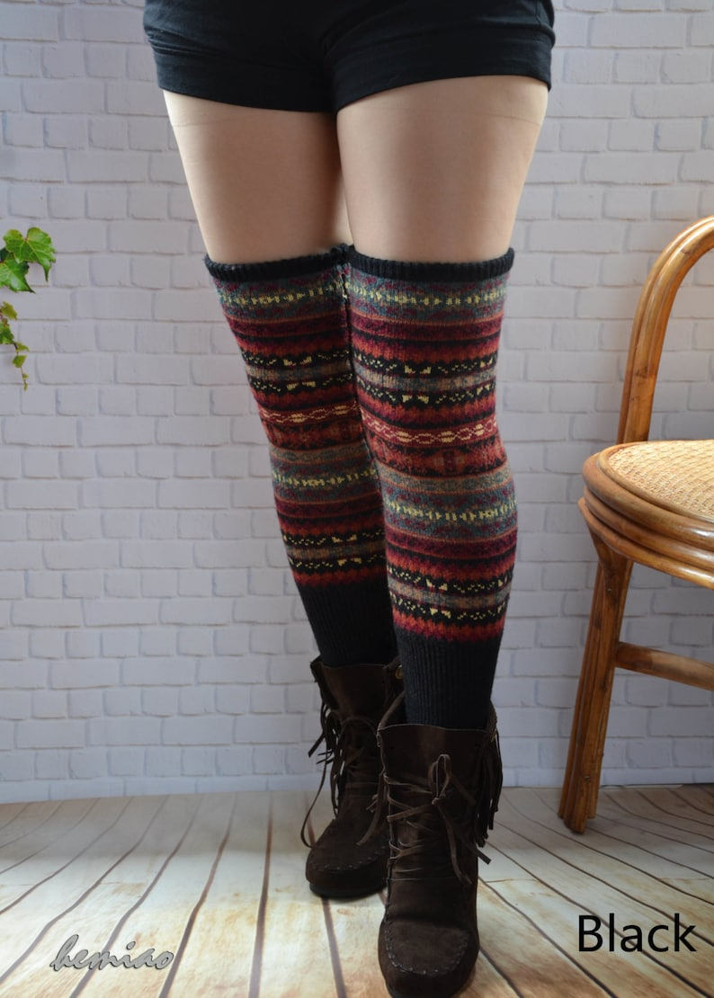 b2b9426a190 Womens Leg WarmersKnit over knee long Leg Warmers thigh high