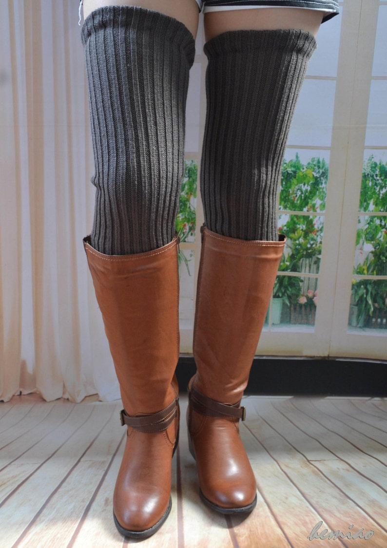 57dac4c7c8e Knit thigh high leg warmers Knit over knee long Leg Warmers