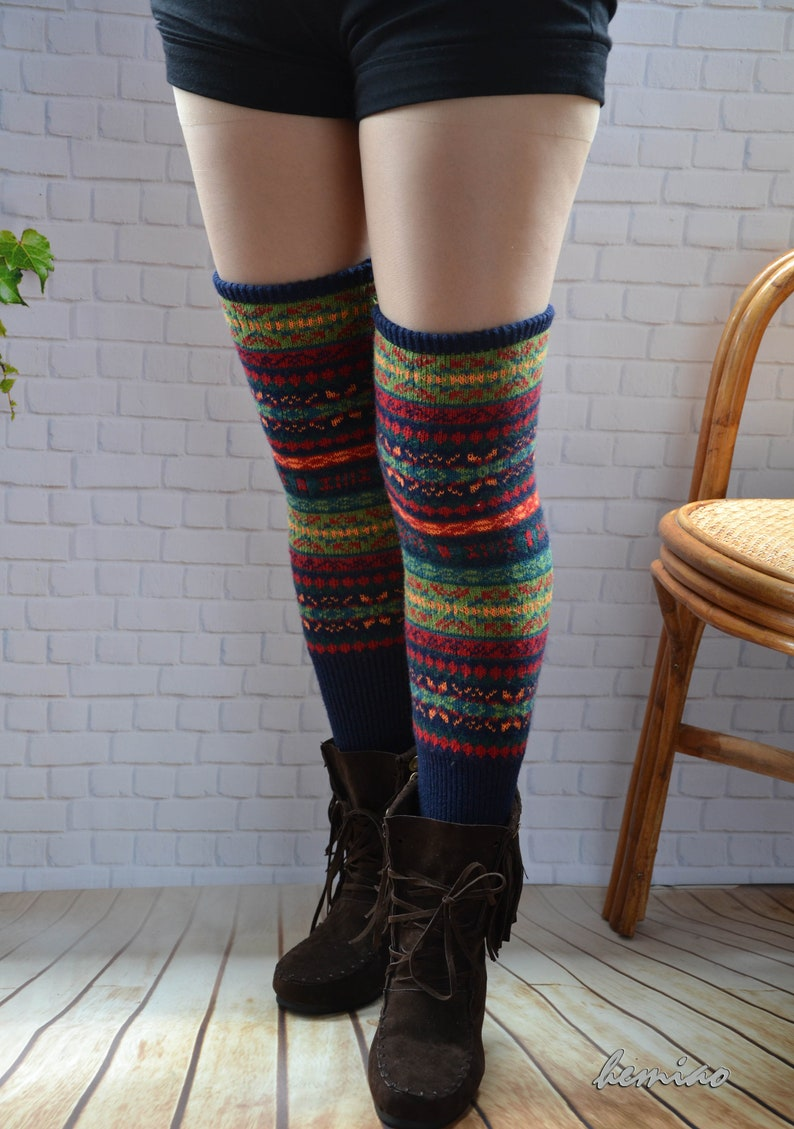 dc4601eed Knit womens leg warmers thigh high socks.over knee