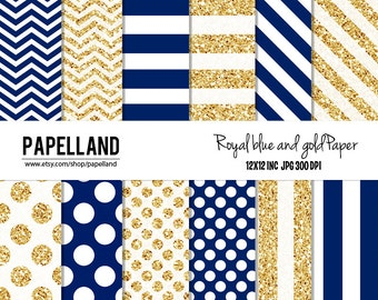Royal Blue And Gold Etsy
