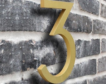 Floating House Numbers - House numbers - Sign Address - Plaque Sign - Home Décor - Hand Made - Metal Cottage House Number  Size 10cm & 15cm