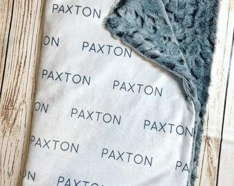 Customized minky blanket - minky blanket - personalized - custom blanket