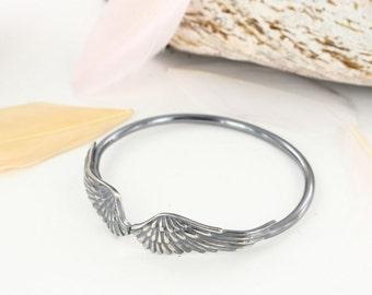 Wing cuff - Angel wings - Feather cuff - Dreamcatcher cuff - Boho cuff - Handmade BR0021