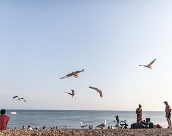 Brighton beach in the summer photographic print