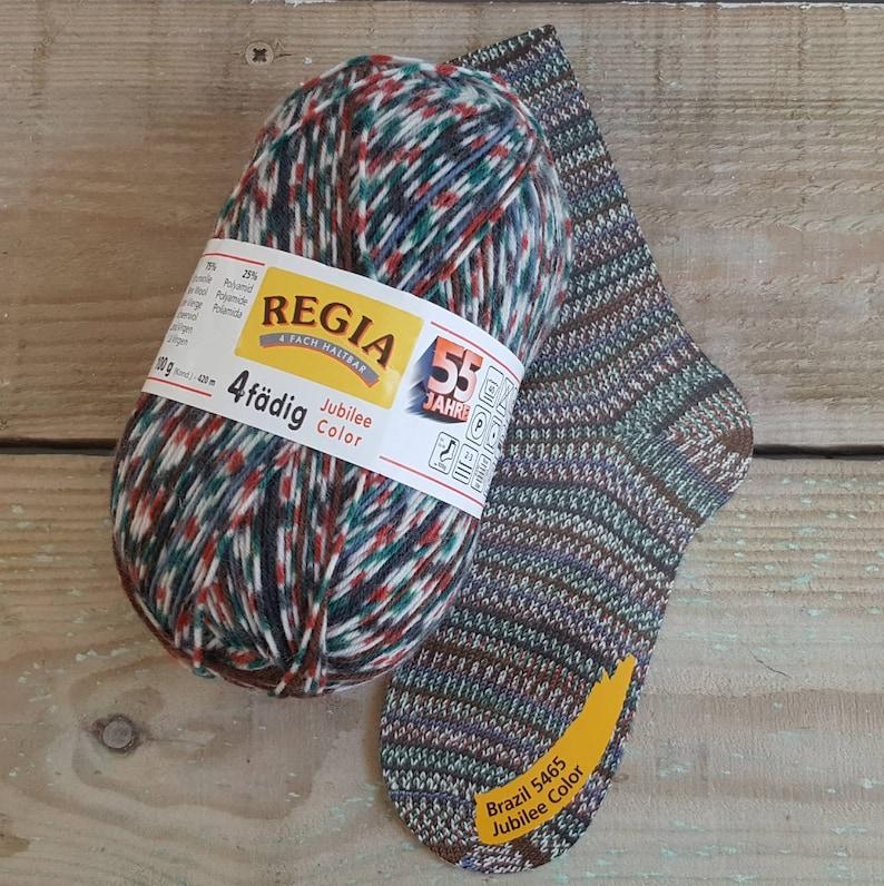 Regia 4 Ply Jubilee Color 100g Self Patterning Sock Yarn Brasil 5465
