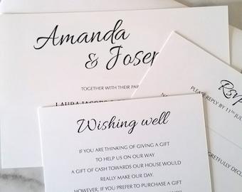 Wedding invite   Mondern script   Wedding Invitations Printable   Wedding Invitation Set   DIY Wedding Cards    Modern Calligraphy,